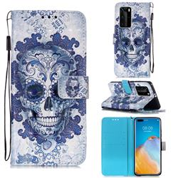 Cloud Kito 3D Painted Leather Wallet Case for Huawei P40 Pro