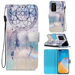 Fantasy Campanula 3D Painted Leather Wallet Case for Huawei P40 Pro