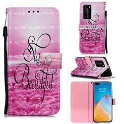 Beautiful 3D Painted Leather Wallet Case for Huawei P40 Pro