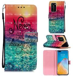 Colorful Dream Catcher 3D Painted Leather Wallet Case for Huawei P40 Pro