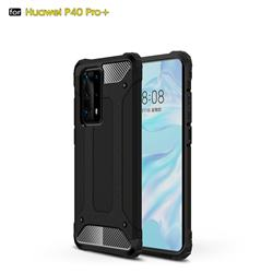 King Kong Armor Premium Shockproof Dual Layer Rugged Hard Cover for Huawei P40 Pro+ / P40 Plus 5G - Black Gold