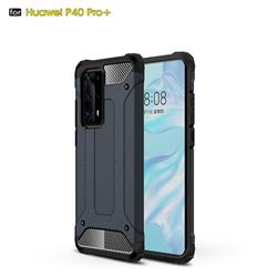 King Kong Armor Premium Shockproof Dual Layer Rugged Hard Cover for Huawei P40 Pro+ / P40 Plus 5G - Navy