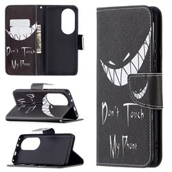 Crooked Grin Leather Wallet Case for Huawei P50