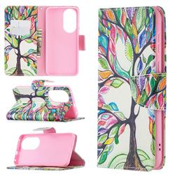 The Tree of Life Leather Wallet Case for Huawei P50