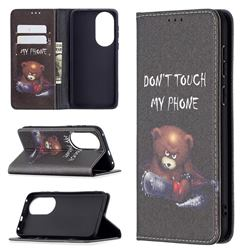 Chainsaw Bear Slim Magnetic Attraction Wallet Flip Cover for Huawei P50
