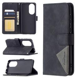 Binfen Color BF05 Prismatic Slim Wallet Flip Cover for Huawei P50 - Black