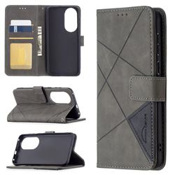 Binfen Color BF05 Prismatic Slim Wallet Flip Cover for Huawei P50 - Gray