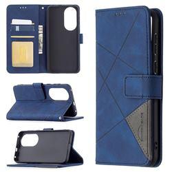 Binfen Color BF05 Prismatic Slim Wallet Flip Cover for Huawei P50 - Blue