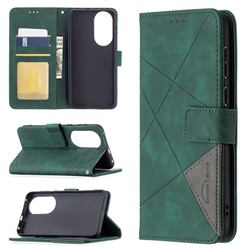 Binfen Color BF05 Prismatic Slim Wallet Flip Cover for Huawei P50 - Green