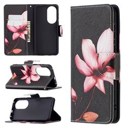Lotus Flower Leather Wallet Case for Huawei P50