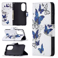 Flying Butterflies Leather Wallet Case for Huawei P50