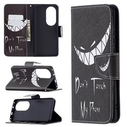 Crooked Grin Leather Wallet Case for Huawei P50 Pro