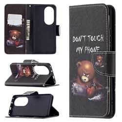 Chainsaw Bear Leather Wallet Case for Huawei P50 Pro