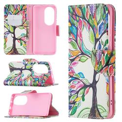 The Tree of Life Leather Wallet Case for Huawei P50 Pro