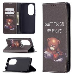 Chainsaw Bear Slim Magnetic Attraction Wallet Flip Cover for Huawei P50 Pro