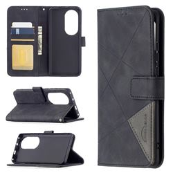 Binfen Color BF05 Prismatic Slim Wallet Flip Cover for Huawei P50 Pro - Black