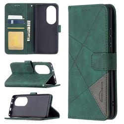 Binfen Color BF05 Prismatic Slim Wallet Flip Cover for Huawei P50 Pro - Green