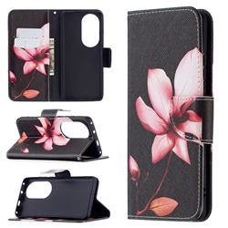 Lotus Flower Leather Wallet Case for Huawei P50 Pro