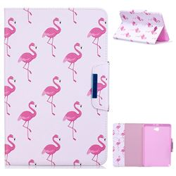 Red Flamingo Folio Flip Stand Leather Wallet Case for Samsung Galaxy Tab A 10.1 with S-Pen P580 P585