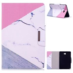 Triangle Marble Folio Flip Stand Leather Wallet Case for Samsung Galaxy Tab A 10.1 with S-Pen P580 P585