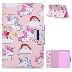 Cloud Unicorn Folio Flip Stand Leather Wallet Case for Samsung Galaxy Tab A 10.1 with S-Pen P580 P585