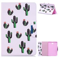 Cactus Folio Flip Stand Leather Wallet Case for Samsung Galaxy Tab A 10.1 with S-Pen P580 P585