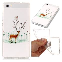 Branches Elk Super Clear Soft TPU Back Cover for Huawei P8 Lite P8lite