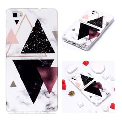 Four Triangular Soft TPU Marble Pattern Phone Case for Huawei P8 Lite P8lite