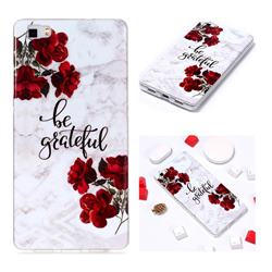 Rose Soft TPU Marble Pattern Phone Case for Huawei P8 Lite P8lite