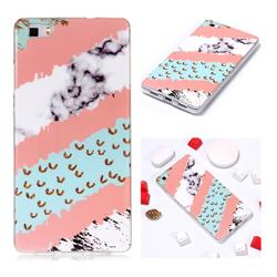 Diagonal Grass Soft TPU Marble Pattern Phone Case for Huawei P8 Lite P8lite