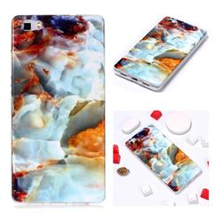 Fire Cloud Soft TPU Marble Pattern Phone Case for Huawei P8 Lite P8lite