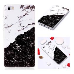 Black and White Soft TPU Marble Pattern Phone Case for Huawei P8 Lite P8lite