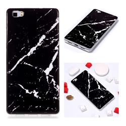Black Rough white Soft TPU Marble Pattern Phone Case for Huawei P8 Lite P8lite