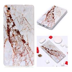 White Crushed Soft TPU Marble Pattern Phone Case for Huawei P8 Lite P8lite
