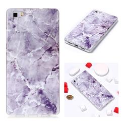 Light Gray Soft TPU Marble Pattern Phone Case for Huawei P8 Lite P8lite