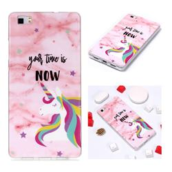 Unicorn Soft TPU Marble Pattern Phone Case for Huawei P8 Lite P8lite