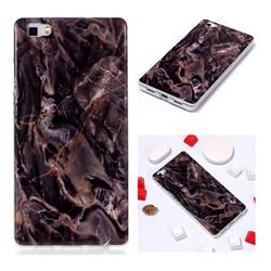 Brown Soft TPU Marble Pattern Phone Case for Huawei P8 Lite P8lite