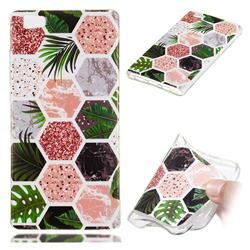 Rainforest Soft TPU Marble Pattern Phone Case for Huawei P8 Lite P8lite
