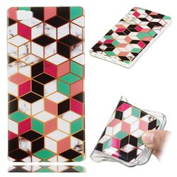 Three-dimensional Square Soft TPU Marble Pattern Phone Case for Huawei P8 Lite P8lite