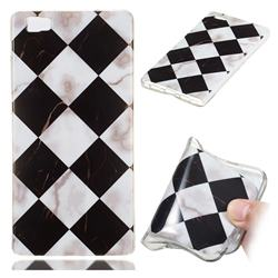 Black and White Matching Soft TPU Marble Pattern Phone Case for Huawei P8 Lite P8lite