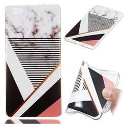 Pinstripe Soft TPU Marble Pattern Phone Case for Huawei P8 Lite P8lite