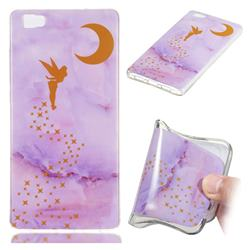 Elf Purple Soft TPU Marble Pattern Phone Case for Huawei P8 Lite P8lite