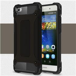 King Kong Armor Premium Shockproof Dual Layer Rugged Hard Cover for Huawei P8 Lite P8lite - Black Gold