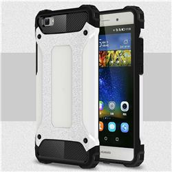 King Kong Armor Premium Shockproof Dual Layer Rugged Hard Cover for Huawei P8 Lite P8lite - White