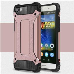 King Kong Armor Premium Shockproof Dual Layer Rugged Hard Cover for Huawei P8 Lite P8lite - Rose Gold