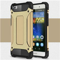 King Kong Armor Premium Shockproof Dual Layer Rugged Hard Cover for Huawei P8 Lite P8lite - Champagne Gold