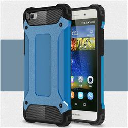 King Kong Armor Premium Shockproof Dual Layer Rugged Hard Cover for Huawei P8 Lite P8lite - Sky Blue