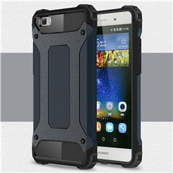 King Kong Armor Premium Shockproof Dual Layer Rugged Hard Cover for Huawei P8 Lite P8lite - Navy