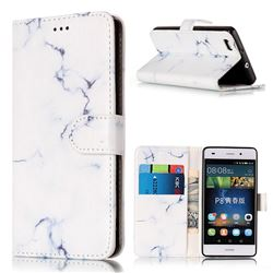 Soft White Marble PU Leather Wallet Case for Huawei P8 Lite P8lite