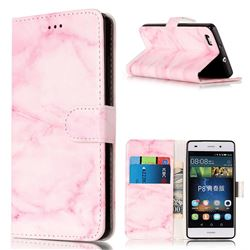 Pink Marble PU Leather Wallet Case for Huawei P8 Lite P8lite